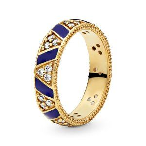 Pandora Blue Stripes & Stones Ring